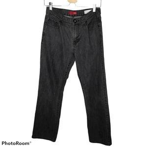 Guess Denim Black Crescent Regular Straight Jeans